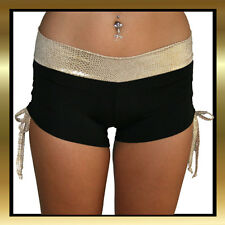 Gold Snake Skin with Black Band Pole Dancing / Yoga/ Crossfit  Gym Shorts