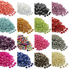 Wholesale Half-round Flatback Acrylic Pearl For Nail Art Phone Craft 2000pcs Hot