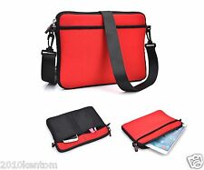 "New Smart Reliable Red Messenger Bag Case Cover For your 7"" 8"" 9"" Smart Tablet"