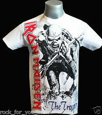 Iron Maiden The Trooper White Mens T Shirt Official Merchandise