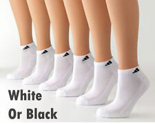 Adidas Climalite Mens Low Cut Socks Cushioned Comfort Size 6-12 Black White Mix