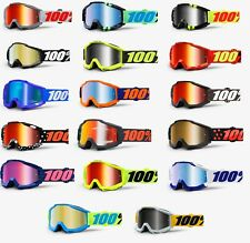 *Fast Shipping* 100% Accuri Goggles Motocross Off-Road (Mirrored & Clear Lens)
