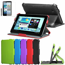 Multi-Angle Stand Leather Case Cover for Samsung Galaxy Tab 2 P3100 P3110 7 Inch