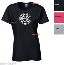 Adult Sizes WomenT-Shirt  Hecate's Wheel Symbol  Wiccan Pagan Goddess Greek Tee