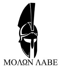 MOLON LABE come and take it Spartan Helmet vinyl decal sticker die cut