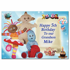 222 Personalised greeting card; In the Night Garden; Best Special Great Lovely