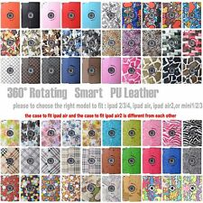 360 Rotating PU Leather Case Smart Stand Cover Skin For IPad 2/3/4 Or Ipad air