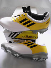 NEW Adidas Adizero Tour Golf Shoes, PICK A SIZE, White/White/Vivid Yellow, $180