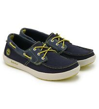 Timberland Men's Earthkeepers® Seneca Canvas 3 Eye Blue Boat Shoes 3716A USA