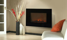 "Wall Mounted 36"" Electric Fireplace Heater Backlight With Remote Control"