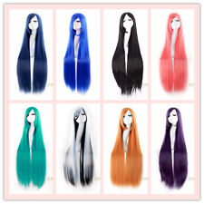 """40"""" Long Straight Anime Cosplay Comic Party Fashion hair Wigs 19 colors"""