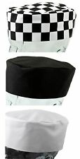Professional Catering Skull Caps One Size Fits All Chefs Cooks Kitchen Hats