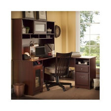Computer Desk With Hutch L Corner Home Office Executive Study Work Station Den