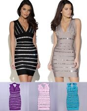 FREE SHIPPING NWT SP923 Collection Sexy Crystal Bodycon Bandage Dress (5 Colors)