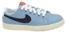 Juniors New NIKE BLAZER LOW Light Blue Canvas Trainers 574318 400