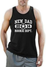 New Dad 2014 Singlet Father's Day Gift Daddy To Be Baby shower Vest Best Dad
