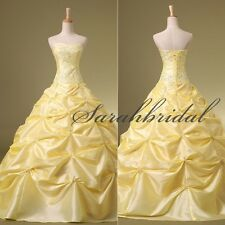 Ball Gown Embroidery Evening Prom Party Dresses Gowns Pagent Quinceanera Dresses