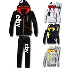 Mens Sports Track Suit Athletic Apparel Soft Thin Sweat Hoodies M~XXL G72692