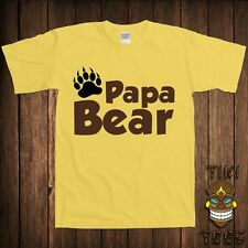 Funny Papa Bear T-shirt Father's Day Gift For Dad Father Daddy Tshirt Tee Shirt