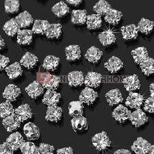 200x Wholesale Shiny Clear Crystal Rhinestones Diamante Craft Dress Making Hot