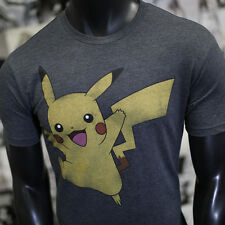 OFFICIAL BRAND Pokemon Pikachu Men Anime T-shirt (GREY)