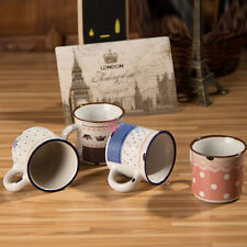 NEW Ceramic Novelty Vintage/Retro Mugs SMALL Decorative Cups 5.5x5cm 4 COLOURS