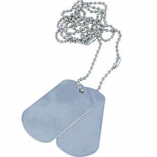 2 x NEW Viper  US Style Rolled Edge Indentification Dog Tag Tags on Chain