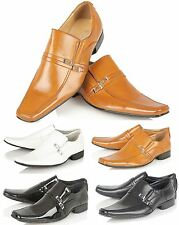 Mens Smart Wedding Shoes Italian Formal Office Work Casual Party Dress Shoe Size