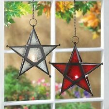 Glass Star Candle Lantern* Multi-Color Choices