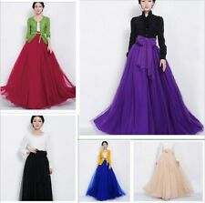 Vintage Bowknot Empire Waist Chiffon Pleated Tiered Dress Long Maxi Skirt Gown