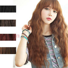 Classic Fashion Womens Lady Long Curly Wavy Hair Full Wigs Cosplay Party 5Colors