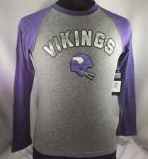 MINNESOTA VIKINGS NFL YOUTH M ONLY LONG SLEEVE TSHIRT NEW BY NFL TEAM APPAREL