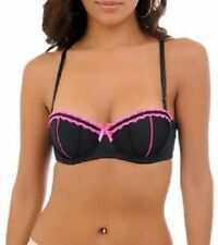 Black Fuchsia Embroidered Trim Bra By Spree Intimates New With Tags