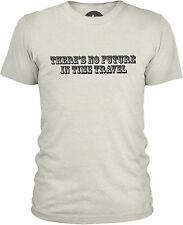 There's No Future in Time Travel (Black) Mens Mixed Cotton T-Shirt