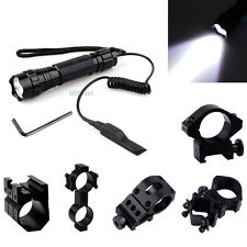 CREE T6 LED 1000LM Tactical Flashlight Torch + Pressure Switch Mount(optional)