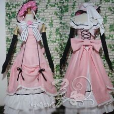 Anime Black Butler Ciel Dress Up Pink Party Dress Fashion Cosplay Costume