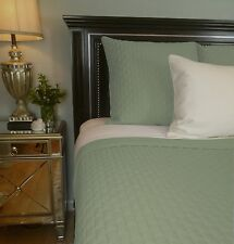 Sage Green 100% BAMBOO Quilted Coverlet Bedding Hypo-allergenic Eco-Friendly