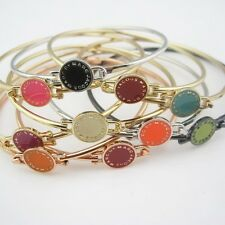 New Classical MARC BY M JACOBS Disk Letters Bracelet Bangle 9 colors available