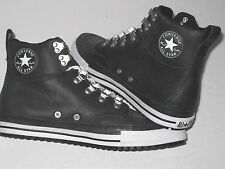New CONVERSE CT AS PC CLASSIC HI Black Leather Trainers 130628C