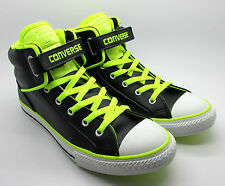 Converse Juniors CT PC Loopback Black Leather Trainers Shoes 641704C New