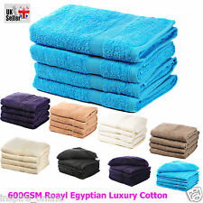 NEW 100% EGYPTIAN COTTON TOWEL 600 GSM SUPER SOFT LUXURY COMBED TOWEL BATH SHEET