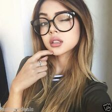 Oversized Round Clear Lens Vintage Retro Style WOmen Men Eyeglasses