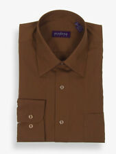 Modena Big&Tall Solid Dress Shirts up to 26 Neck & 40/41 Sleeve Chocolate