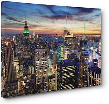 New York City Skyline Cityscape Canvas Print Wall Art Picture a1 a2