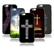 Christian Cross Jesus Bible Verse Quote Design Hard Case For iPhone4 4s 5 5s 5c