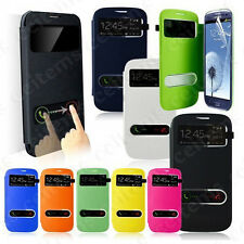 PU Leather Smart View Flip Pouch Case Cover For Galaxy S3 SIII i9300