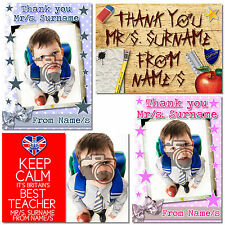 Personalised Thank You Teacher Gift - Photo Keyring, Magnet & Coasters