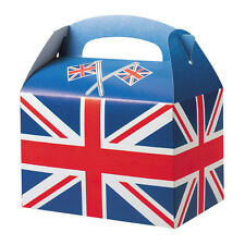 Childrens Kids Adults Union Jack Birthday Party Bag  Meal Boxes Carry Boxes Food