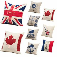 Nice  Stripe Nautical Decorative Throw Sofa Pillow Cases Cushion Cover Square