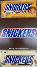 SNICKERS BARS NEW IN BOX CHOCOLATE PEANUTS, ALMONDS, PEANUT BUTTER CHOICES PICK
